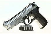 Охолощенный пистолет B92 СО Беретта, хромированный