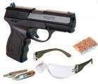 Пневматический пистолет Crosman PRO77 Kit (пули+очки+2 баллончика)