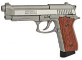 Пневматический пистолет Swiss Arms SA92 Silver Auto (цвет стальной), с автоогнем