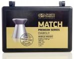 Пули пневм. JSB Match Premium Middle 4.5 мм, 0.52г (200шт)