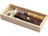 Нож Opinel 8 VRI Olive с чехлом в подарочной коробке РАСПРОДАЖА