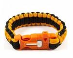 Браслет паракордовый с огнивом Orange (Geoline Survival) Black&orange  54730